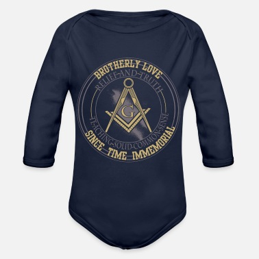 Order Freemasons and the World order - Organic Long-Sleeved Baby Bodysuit