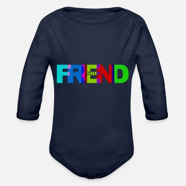 Friendship Friendship - Organic Long-Sleeved Baby Bodysuit