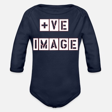 Image POSITIVE IMAGE - Organic Long-Sleeved Baby Bodysuit