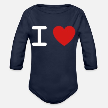I Love I Love... - Organic Long Sleeve Baby Bodysuit