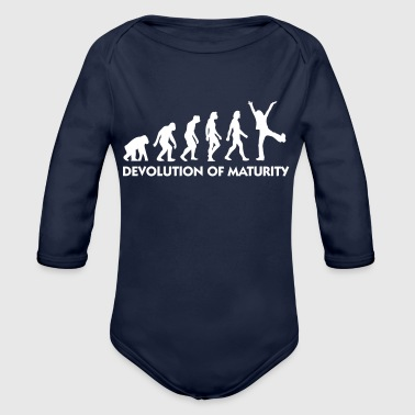 The Evolution Of Maturity - Organic Long Sleeve Baby Bodysuit