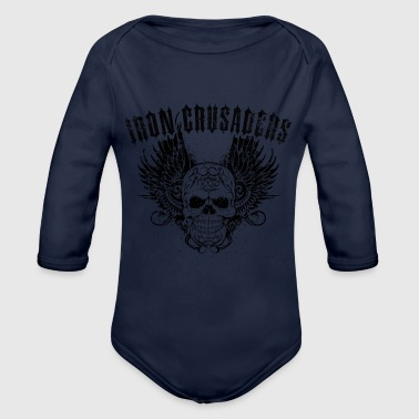 Iron Crusaders - Organic Long Sleeve Baby Bodysuit
