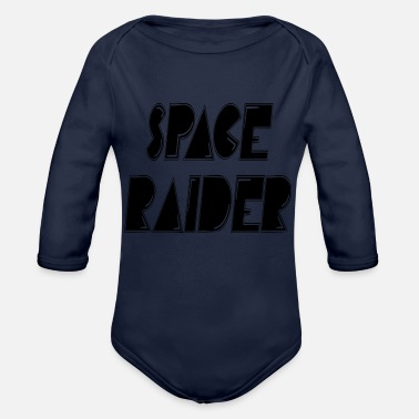Raider space raider - Organic Long Sleeve Baby Bodysuit