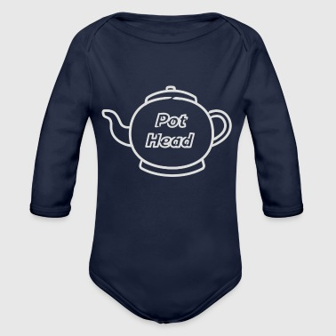Coffee Pun - Organic Long Sleeve Baby Bodysuit