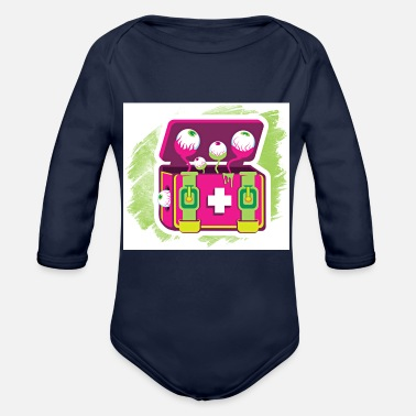 funny - Organic Long-Sleeved Baby Bodysuit