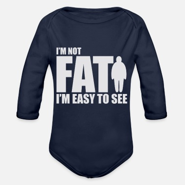 Funny Fat Cool Joke - Organic Long-Sleeved Baby Bodysuit