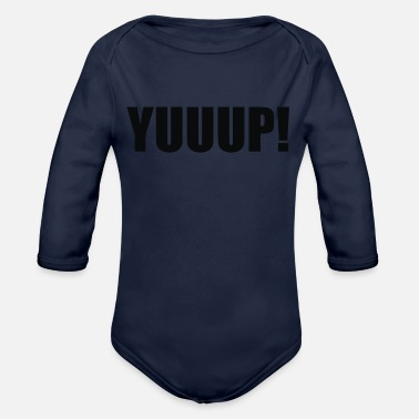 Humour Yuup Humour - Organic Long-Sleeved Baby Bodysuit