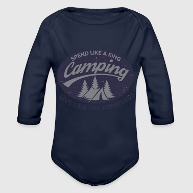 Irony of Camping - Organic Long Sleeve Baby Bodysuit