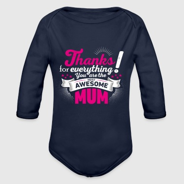 Mothers Day Mothers day! Mother! Mum - Organic Long Sleeve Baby Bodysuit