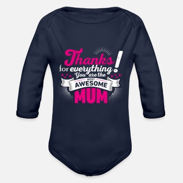 Mothers Day Mothers day! Mother! Mum - Organic Long-Sleeved Baby Bodysuit