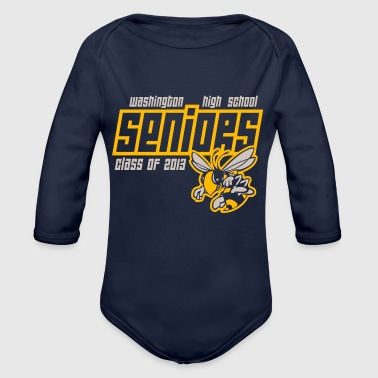 High School Senior Washington High School Seniors Hornets - Organic Long Sleeve Baby Bodysuit