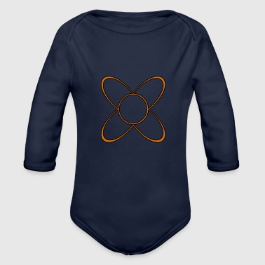 typo shapes symbolic fashion - Organic Long Sleeve Baby Bodysuit