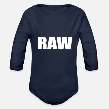 Raw RAW - Organic Long Sleeve Baby Bodysuit