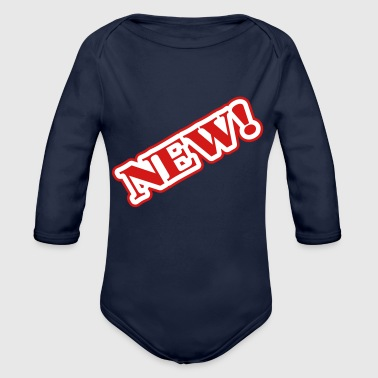 News New! - Organic Long Sleeve Baby Bodysuit