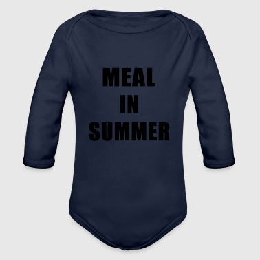 Meal Meal In Summer - Organic Long Sleeve Baby Bodysuit