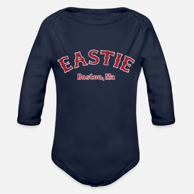 East Eastie Boston Apparel Clothing - Organic Long-Sleeved Baby Bodysuit