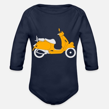 Scooter Scooter - Organic Long Sleeve Baby Bodysuit