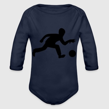 Bowling Player Ball Sports - Organic Long Sleeve Baby Bodysuit