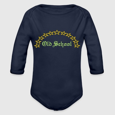 Old School - Organic Long Sleeve Baby Bodysuit