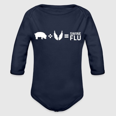 The Swine Flu - Organic Long Sleeve Baby Bodysuit