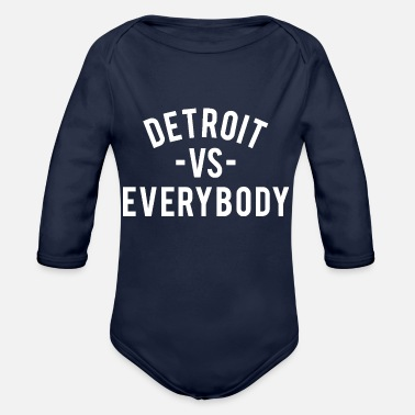 Detroit Detroit VS Everybody - Organic Long Sleeve Baby Bodysuit
