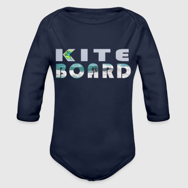 kiteboard - Organic Long Sleeve Baby Bodysuit