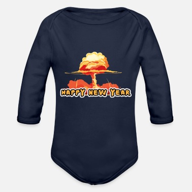 Poster HAPPY NEW YEAR - Organic Long-Sleeved Baby Bodysuit