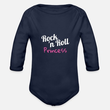 Rock N Roll Rock n Roll Princess - Organic Long Sleeve Baby Bodysuit