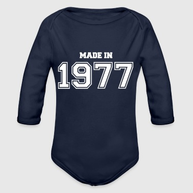 1977 1977 - Organic Long Sleeve Baby Bodysuit