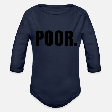 Poor POOR - Organic Long Sleeve Baby Bodysuit
