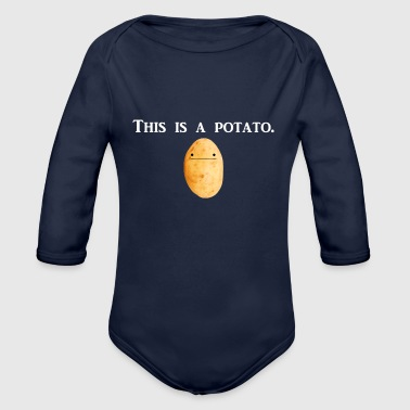 This is a potato. - Organic Long Sleeve Baby Bodysuit