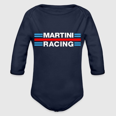 Martini Racing White Team - Organic Long Sleeve Baby Bodysuit