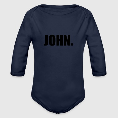 JOHN. - Organic Long Sleeve Baby Bodysuit