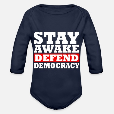 Social Democracy Democracy - Organic Long-Sleeved Baby Bodysuit