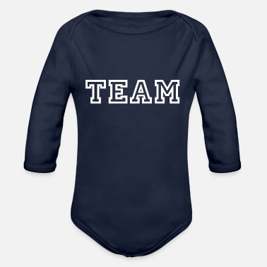 Team Spirit TEAM - Sport - Friends - Team Spirit - Organic Long-Sleeved Baby Bodysuit