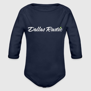 Rustic dallas rustic wht - Organic Long Sleeve Baby Bodysuit