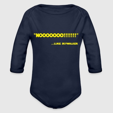 Luke Skywalker Quotes Vector - Organic Long Sleeve Baby Bodysuit