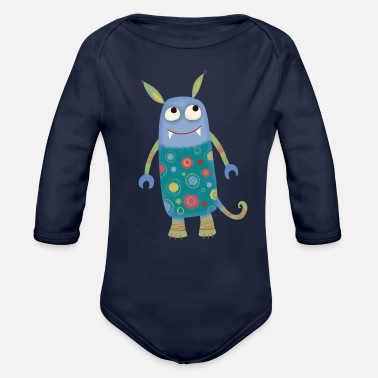 Sidney Monster Sidney - Organic Long-Sleeved Baby Bodysuit