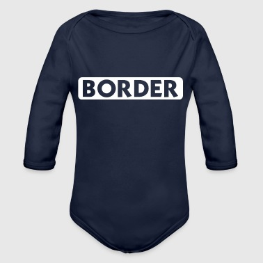 Border - Organic Long Sleeve Baby Bodysuit