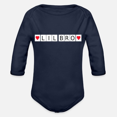 Birth Little Brother Lil Bro Baby Birth Family Sister - Organic Long-Sleeved Baby Bodysuit