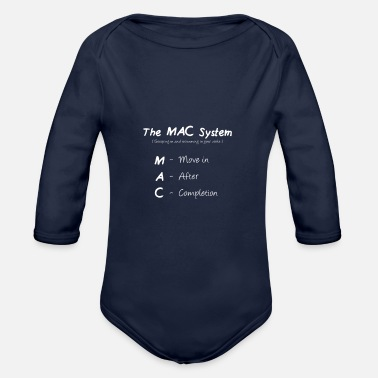 Sunny The MAC System - White - Organic Long-Sleeved Baby Bodysuit