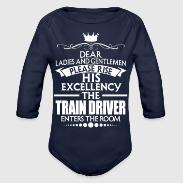 TRAIN DRIVER - EXCELLENCY - Organic Long Sleeve Baby Bodysuit