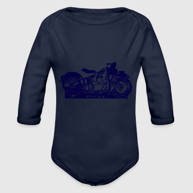 Taverniti motocycle - Organic Long Sleeve Baby Bodysuit