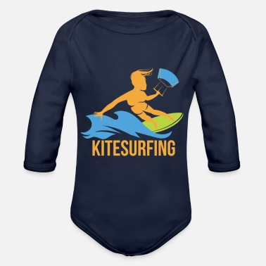 Beach Camping SURF CAMP SUMMER BEACH - Organic Long-Sleeved Baby Bodysuit