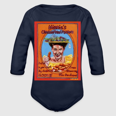 Fried Chicken Minnie's Chicken Fried Peckers - Organic Long Sleeve Baby Bodysuit