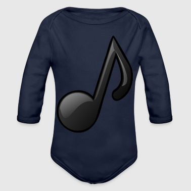 Note Clue Music Note Musical Notes Instrument Gift Present - Organic Long Sleeve Baby Bodysuit