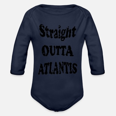 Atlantis Straight outta Atlantis - Organic Long-Sleeved Baby Bodysuit