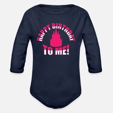 Bursdag Happy Birthday To Me Candles Cake - Organic Long-Sleeved Baby Bodysuit