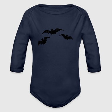 Bat Bat Bat - Organic Long Sleeve Baby Bodysuit