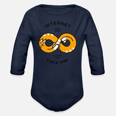 Internet Internet - Organic Long-Sleeved Baby Bodysuit